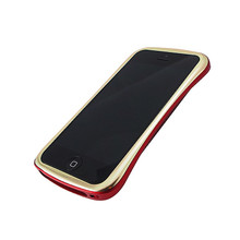 DRACO ELEGANCE Aluminum Bumper - for iPhone SE/5S/5 (Gold/Red)