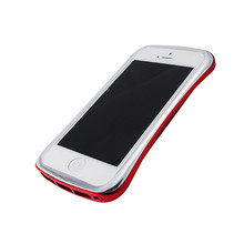 DRACO ELEGANCE Aluminum Bumper - for iPhone 5/5S (Silver/Red)