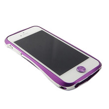 DRACO Aluminum Home Button - for iPhone 5/5S (Purple/Silver)