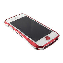 DRACO Aluminum Home Button - for iPhone 5/5S (Red/Silver)