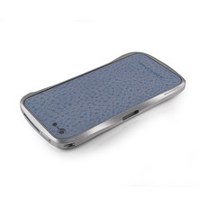 DRACO VOGUE Leather Skin Guard - for iPhone 5 (Light Blue)