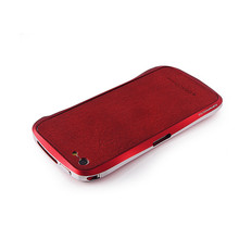 DRACO VOGUE Leather Skin Guard - for iPhone SE/5S/5 (Red)