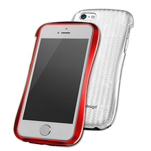 DRACO ALLURE A Aluminum Bumper Case  - for iPhone 5/5S (Red/White)