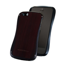 DRACO ALLURE WOOD Bumper case- for iPhone 5/5S (Wood/Black)
