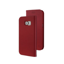 TIGRIS PU FLIP CASE FOR GALAXY S6 EDGE-RED