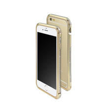 DRACO ASTRAL HAND POLISHING ALUMINUM BUMPER MADE WITH 101 PCS SWAROVSKI ZIRCONIA FOR IPHONE 6S/6 - LUXURY GOLD