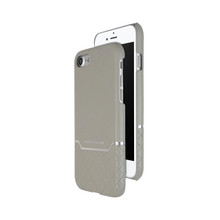 VENANO B Top Grain Back Cover Leather Case for iPhone 7-Elephant Grey