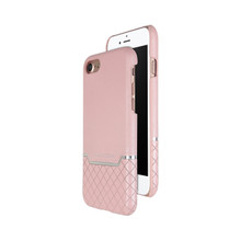 VENANO B Top Grain Back Cover Leather Case for iPhone 7-Sakura Pink