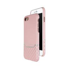 VENANO B Top Grain Back Cover Leather Case for iPhone 7-Sakura Pink