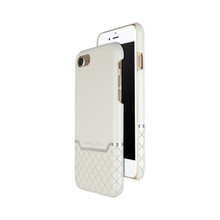 VENANO B Top Grain Back Cover Leather Case for iPhone 7-Pearl White
