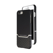 VENANO B Top Grain Back Cover Leather Case for iPhone 7 Plus-Meteor Black