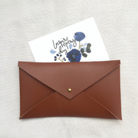 Envelope Clutch Camel