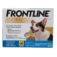 Frontline Gold for Dogs 23-44# (3 dose box)