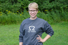 "My Twins Are Cuter twin mom/dad sweatshirt. Our ""I Love My Twins"" sweatshirt in a soft, comfy heather navy."