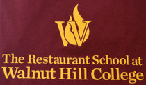 Mens Short Sleeve T-shirt with the Classic Restaurant School at Walnut Hill College printed on front Preshrunk 100% Cotton jersey knit Mediumweight Relaxed fit 6 oz.