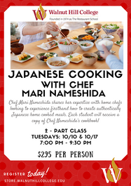 Japanese Cooking with Chef Mari Nameshida