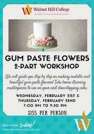 Gum Paste Flowers 2-Part Workshop
