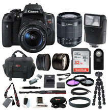 Canon EOS Rebel T6i Digital SLR con lente EF-S 18-55mm y kit de accesorios