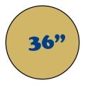 """36"""" Round Pedestal Tables"""