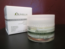 Olivella Contour Eye Cream:  Rich in Olive Oil, vegetal extracts and bio-technologic originated hyaluronic acid, assuring eye contour; nourishment, hydration, and protection. A cream, gentle, delicate and of immediate absorption, is ideal in the morning fighting typical awakening swelling, as well as maximizing its benefits in the evening, while resting. Forms an excellent base for make up, facilitating application and extending its duration.  - 1.01 fl. oz. / 30 ml.-  (Product of Italy)