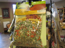 Mississippi Delta Tomato Basil Soup Mix   Ingredients: Rice, Carrot, Onion, Celery, Shallots, Dried Tomatoes, Italian Parsley, Yellow Bell Pepper, and Spices.   No Salt Added, Gluten Free, Serves 5-6  100% Natural