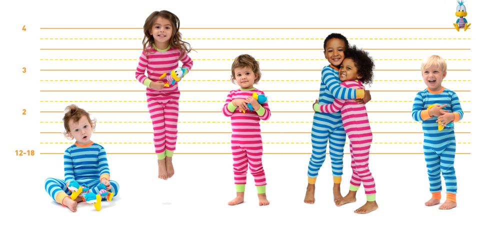 Zippered back pajamas for toddlers