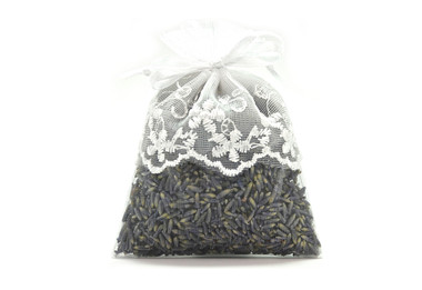 Lavender-Filled White Lace Sachet
