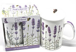 Lavender Motif Mug with Packaging