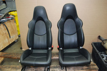 Porsche 911 996 987 997 From Cayman R Sport Seats Black Leather Pair 2 way