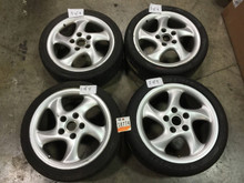 Porsche 993 964 Boxster Genuine Set of Wheels 7.5x18 ET50 9x18 ET52 993.362.138.01 & 993.362.134.06