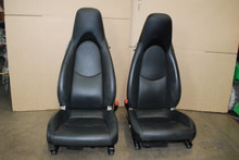 Porsche 911 987 997 Cayman Cooled / Heated Seats Pair Black Leather