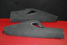 Porsche 911 991 Quarter Panel Trim C Pillar Covering Suede 99155518701 Pair (2) 99155518801