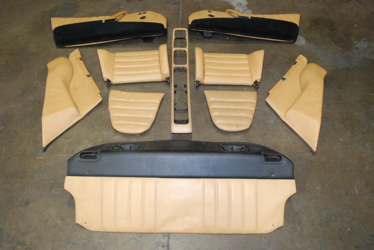 porsche 911 964 10 pcs interior kit tan console door panels rear seats oem los angeles. Black Bedroom Furniture Sets. Home Design Ideas