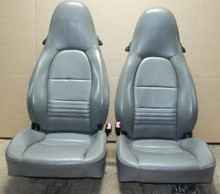 Porsche 911 986 996 Carrera Boxster Grey Supple Leather Seats with CREST Gray