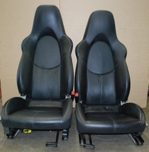 Porsche 911 997 987 Cayman Boxster Sport Seats 2 Way Manual BLACK Leather OEM