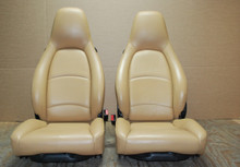 Porsche 911 993 Carrera Tan Sand Beige Leather Seats LEFT RIGHT Pair OEM