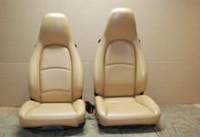 Porsche 911 993 Carrera Tan Sand Beige Leather Seats Pair RIGHT LEFT Factory OEM