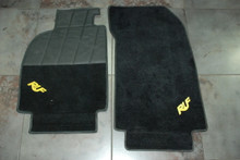Porsche 911 993 Turbo Carrera RUF Black Floor Mats Yellow Bird CTR Carpet Rug