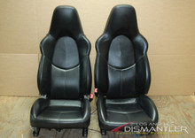 Porsche 911 987 997 Boxster Sport Seats Black Leather Pair LEFT RIGHT Factory