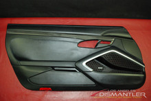 Porsche 911 991 Turbo GT3 Left Driver Door Panel Trim Black Leather Carbon Fiber
