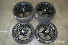 Porsche 911 997 Turbo II Black Narrow Body Wheels Set 8x19 ET57 | 11x19 ET51 OEM