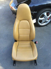 Passenger Side Perf Leather 8-way Power Porsche 996 Seat Beige