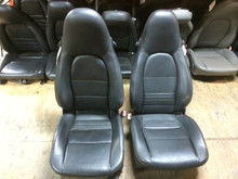Pair 996/986 Perf Leather 8-way Porsche Seats Black