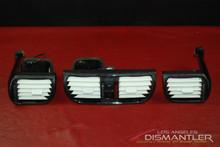 Porsche 911 997 Carrera Carbon Fiber AC Dash Nozzle Air Vent Duct Set 3 Vents