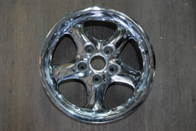 "Porsche 993 911 Chrome Cup 2 Wheel 7x17 ET55 99336212400  17"" Rim OEM"