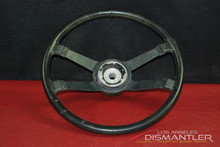 Porsche 914 Classic 4 Spoke Black Leather Steering Wheel Factory OEM 91434780900