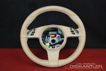 Genuine Porsche 911 991 Carrera 3-Spoke Steering Wheel Tan Vinyl 99134780313 9J9