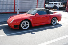 Red Porsche 959 Speedster