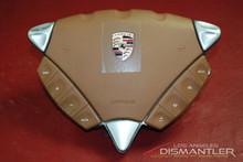Porsche 955 Cayenne Tan Steering Wheel Airbag With Controls 7L5880201DD 3U9 OEM