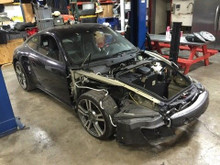 Porsche 911 997 Twin Turbo Project Salvage Title Project Builder Rolling Chassis